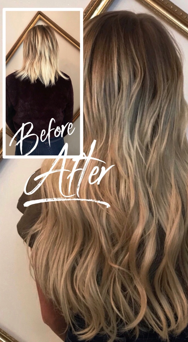 Bonded hair extensions